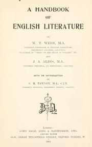 Cover of: A handbook of English literature