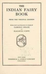Cover of: The Indian fairy book