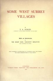 Cover of: Some West Surrey villages