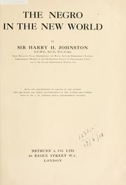 Cover of: The Negro in the New World