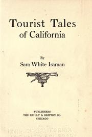 Cover of: Tourist tales of California