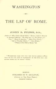 Cover of: Washington in the lap of Rome