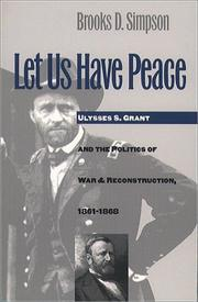 Cover of: Let us have peace
