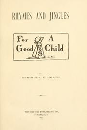 Cover of: Rhymes and Jingles for a Good Child