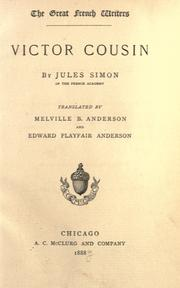 Victor Cousin by Simon, Jules