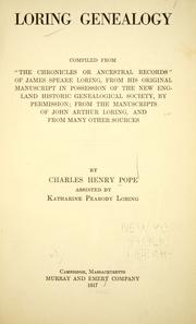 Cover of: Loring genealogy by Charles Henry Pope