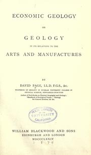 Economic geology by Page, David