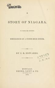 Cover of: A story of Niagara