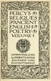 Cover of: Percy's Reliques of ancient English poetry ..