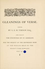 Cover of: Gleanings of verse