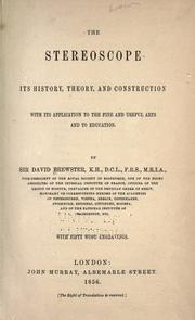 Cover of: The stereoscope