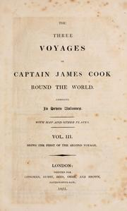 Cover of: The three voyages of Captain James Cook round the world ..