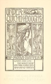 Cover of: Under quicken boughs