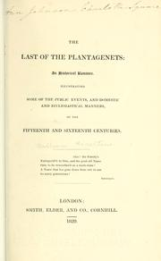 Cover of: The last of the Plantagenets
