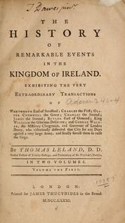 Cover of: The history of remarkable events in the kingdom of Ireland