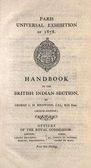 Cover of: Handbook to the British Indian section