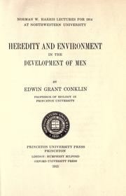 Cover of: Heredity and environment in the development of men