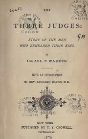 Cover of: The three judges