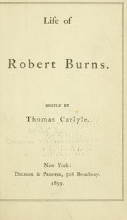 Cover of: Life of Robert Burns