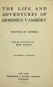 Cover of: The life and adventures of Arminius V©Øamb©Øery