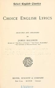 Cover of: Choice English lyrics