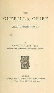 Cover of: The guerilla chief and other tales