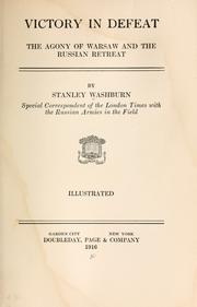 Victory in defeat by Washburn, Stanley