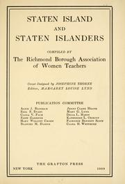 Cover of: Staten Island and Staten Islanders by Richmond Borough Association of Women Teachers.