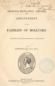 Cover of: Arrangement of the families of mollusks