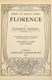 Cover of: Florence | Elizabeth Wilson Grierson