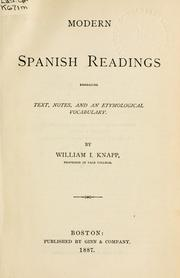Cover of: Modern Spanish readings embracing text, notes, and an etymological vocabulary