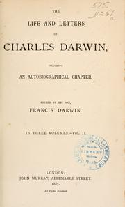 Cover of: The  life and letters of Charles Darwin by Charles Darwin