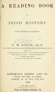Cover of: A reading book in Irish history