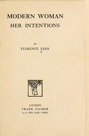 Cover of: Modern woman by Florence Farr