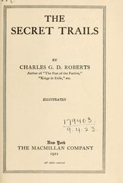 Cover of: The secret trails