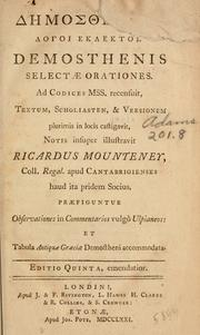 Cover of: Orations