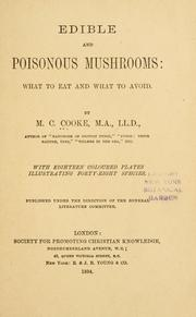 Cover of: Edible and poisonous mushrooms
