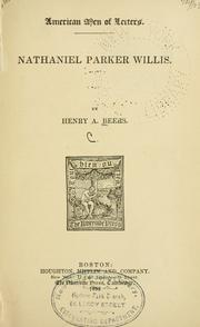 Cover of: Nathaniel Parker Willis
