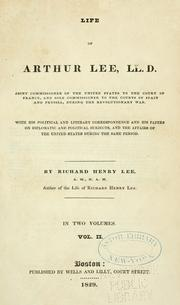 Cover of: Life of Arthur Lee, LL. D