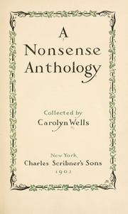 Cover of: A Nonsense Anthology