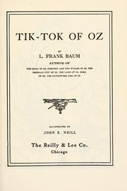 Cover of: Tik-Tok of Oz by L. Frank Baum