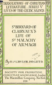 Cover of: St. Bernard of Clairvaux's Life of St. Malachy of Armagh