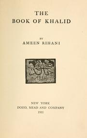 Cover of: The book of Khalid