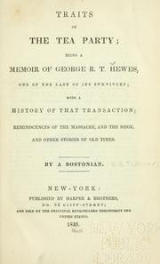 Cover of: Traits of the tea party