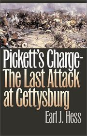 Cover of: Pickett's charge--the last attack at Gettysburg