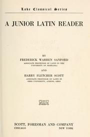 Cover of: A junior Latin reader