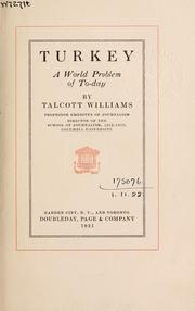 Cover of: Turkey, a world problem of to-day
