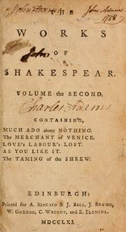 Cover of: The works of Shakespear