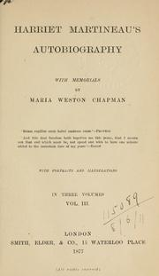 Cover of: Autobiography, with memorials by Maria Weston Chapman