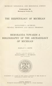 Cover of: The herpetology of Michigan